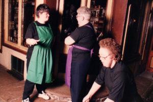 photo of Sandra Bookes, June Brandwood and Paula Mudd in Salford Streets