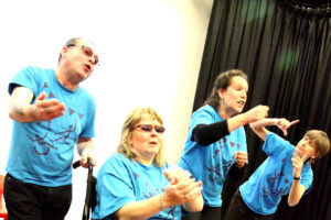photo: Robert Chadwick, Angela Chadwick, Jen Harris and Sue Caudle Friday Group