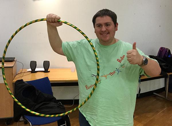 Photo: Adam shows off his Circus Skills