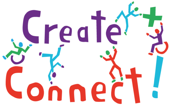 Logo for 'Create + Connect!' DIY's new project whilst staying safe at home
