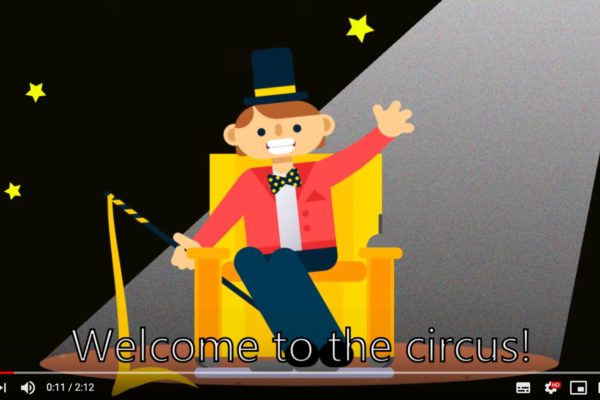 An animated version of Scott as the Ringmaster welcoming everyone to the Circus!