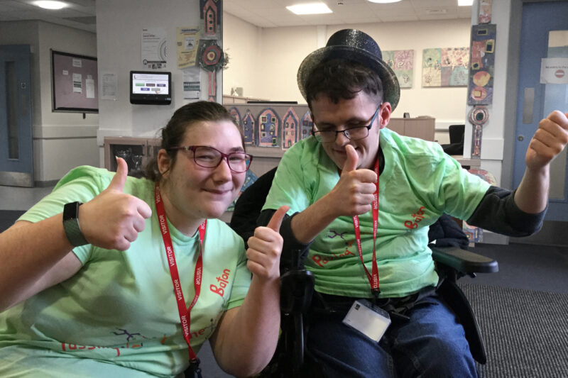 photo - Young Leaders Amy and Scott give the thumbs up