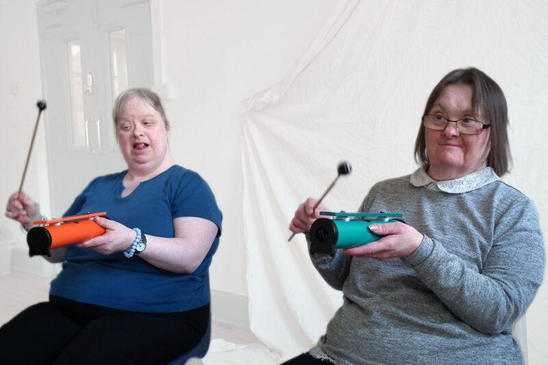 DIY's Anna and Joan making music