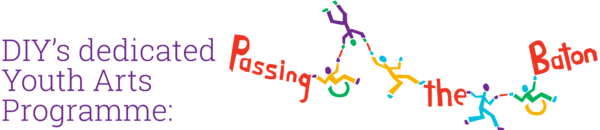'DIY's dedicated Youth Arts Programme' Passing the Baton logo
