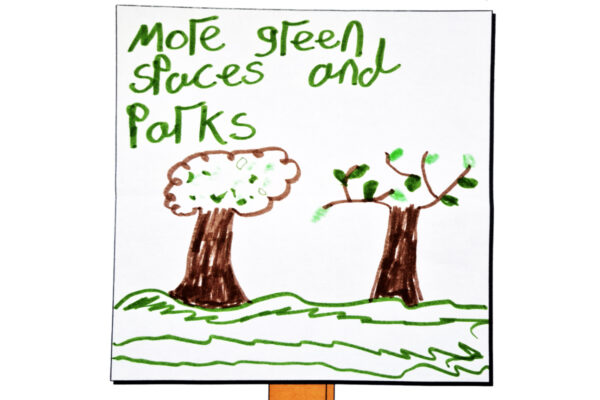 picture of trees and grass drawn by Robert Noble
