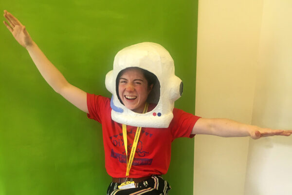 photo of Sophie as the Spaceman