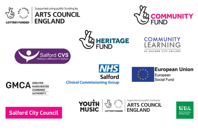 logos of all the funders who kindly supported our work during 2020 and 2021 lockdowns