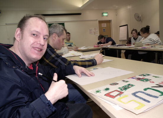 Photo of a DIY visual art class at Langworthy Cornerstone