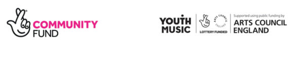 Funder logos the National Lottery Community Fund and Youth Music