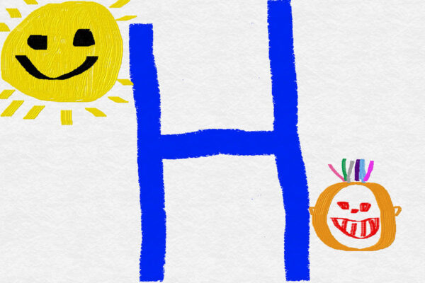 picture - sunshine 'H' and smiling face